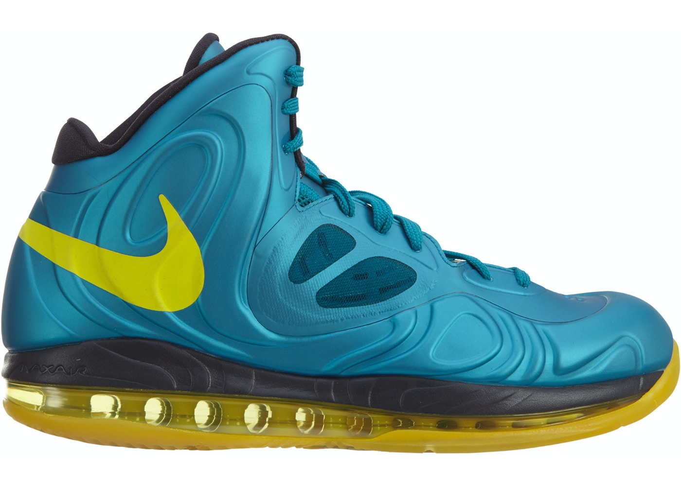 buy popular 5da8a 2cf80 ... Nike Air Max Hyperposite Tropical Teal Sonic Yellow ...