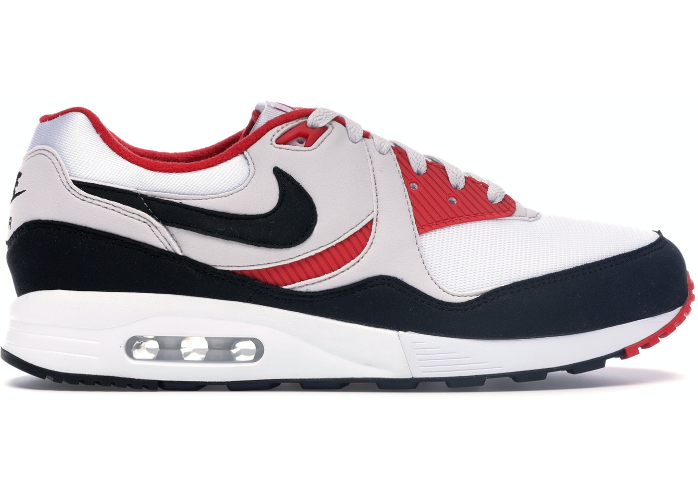 bfb05175 Air Max Light White Black Grey Red - AO8285-101