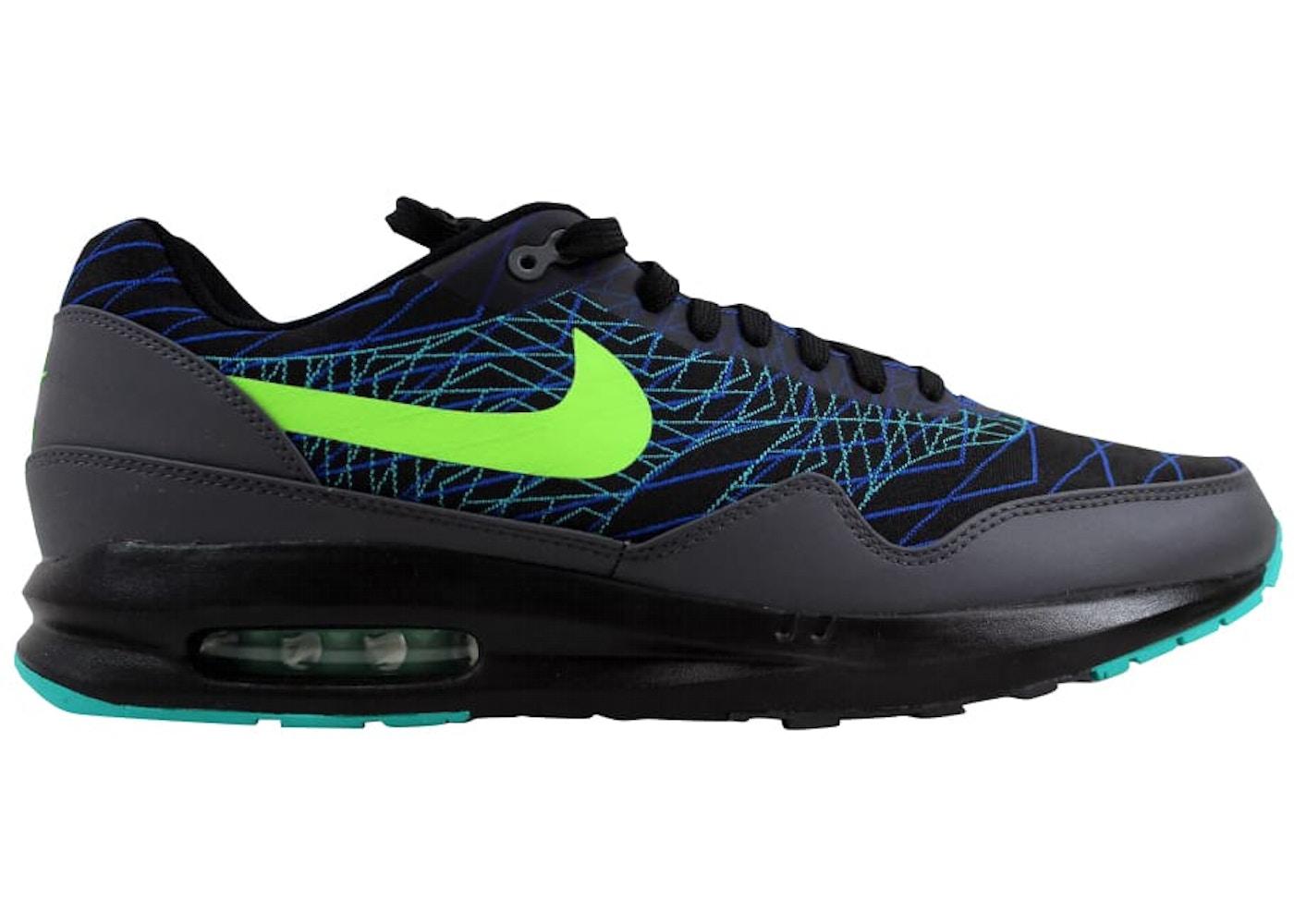 reputable site 1aaf2 ba231 Nike Air Max Lunar1 JCRD Winter Black Flash Lime-Hyper Cobalt ...