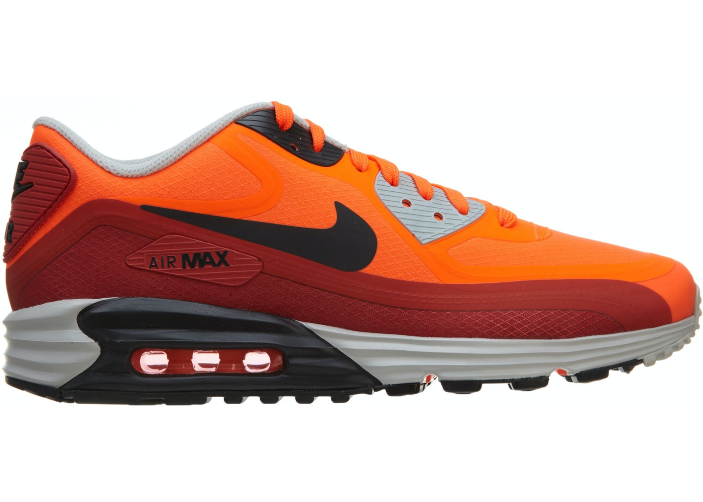 inicial Banquete Destreza  Nike Air Max Lunar90 Wr Hyper Crimson Dark Ash-Red Clay - 654471-800
