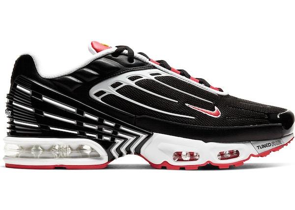Nike Air Max Plus 3 Black White Track Red Cj0601 001