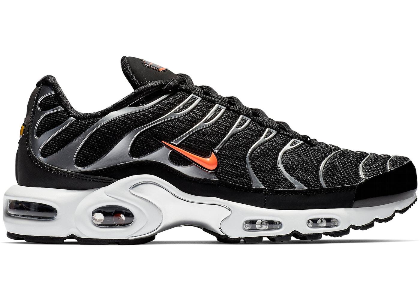 Nike Air Max Plus TN Black Metallic Silver Mens Running Shoes NIKE ND000746