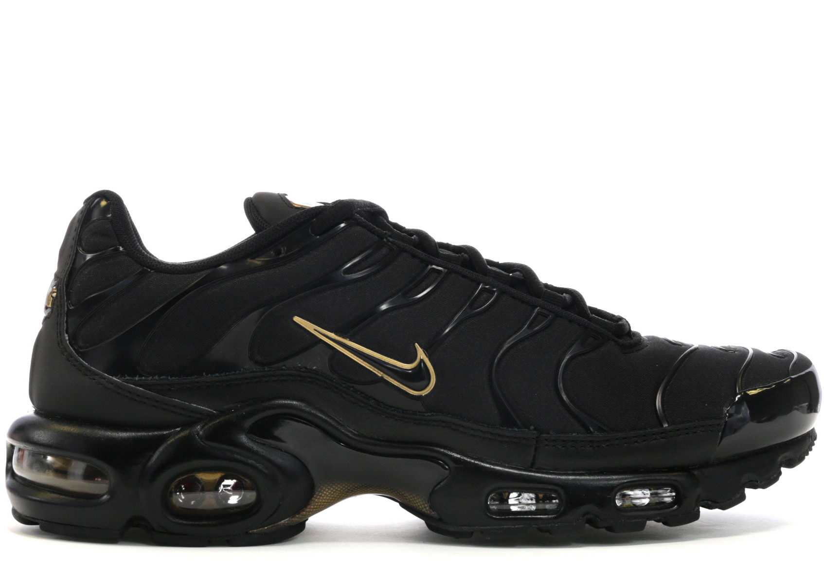 Nike Air Max Plus Black Metallic Gold