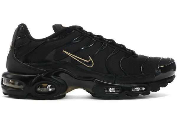 separation shoes a1e8c ca925 Air Max Plus Black Metallic Gold