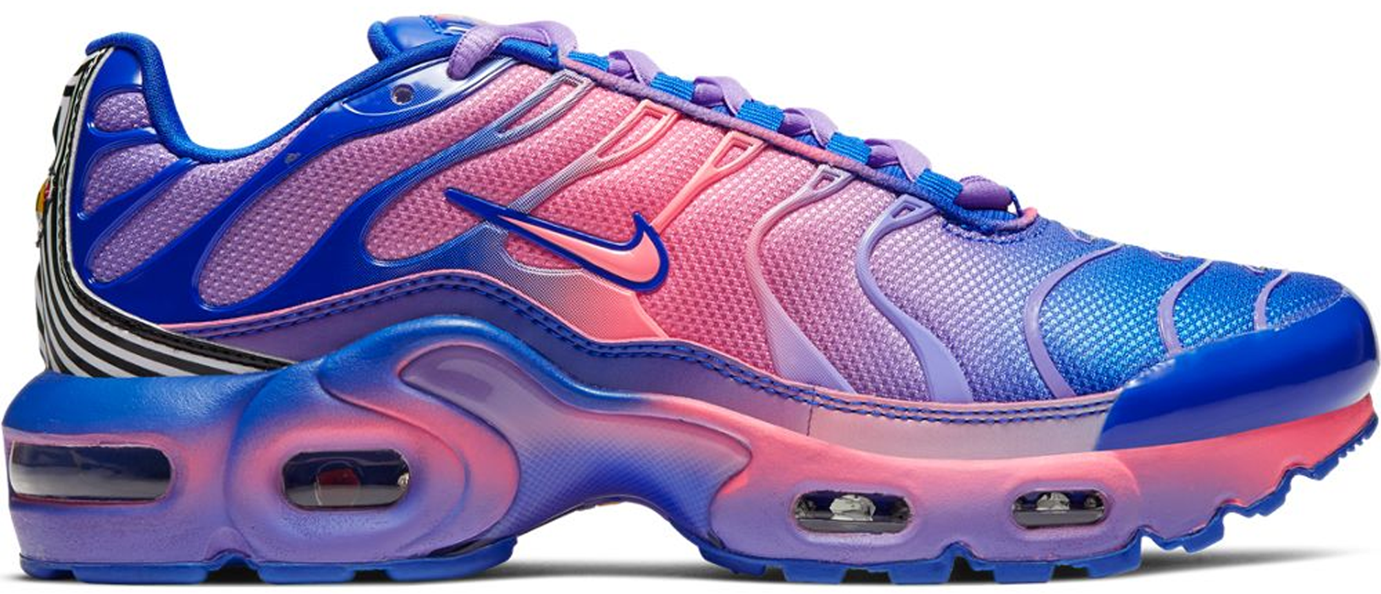pink and blue nike air max