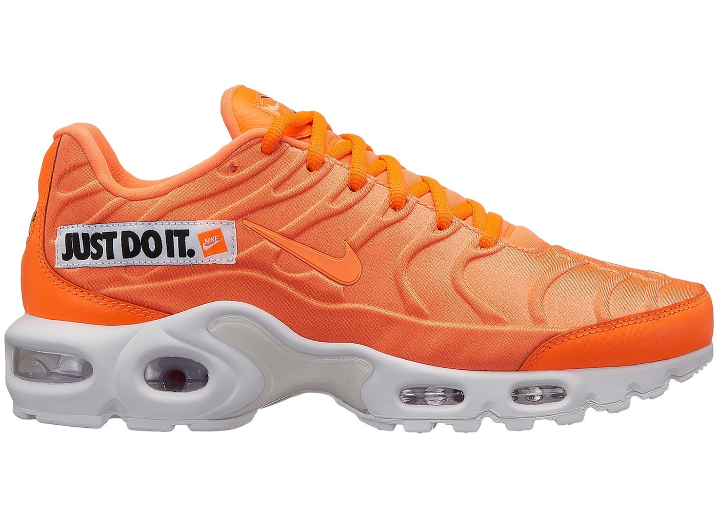 hypeanalyzer air max plus just do it pack orange w
