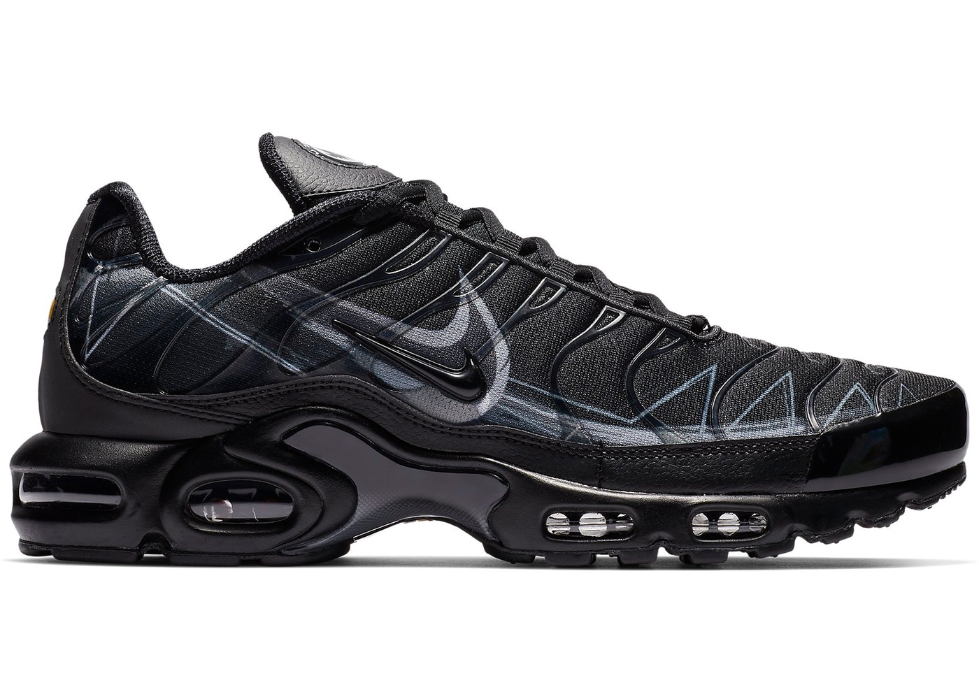 newest f8edb 862db Air Max Plus La Requin Black