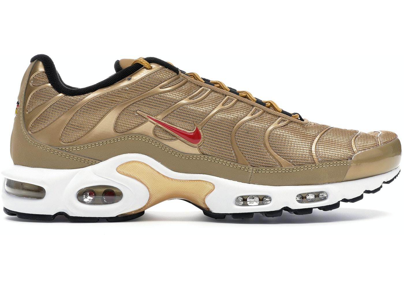 feo Rancio Relativamente  Nike Air Max Plus Metallic Gold (2018) - 903827-700