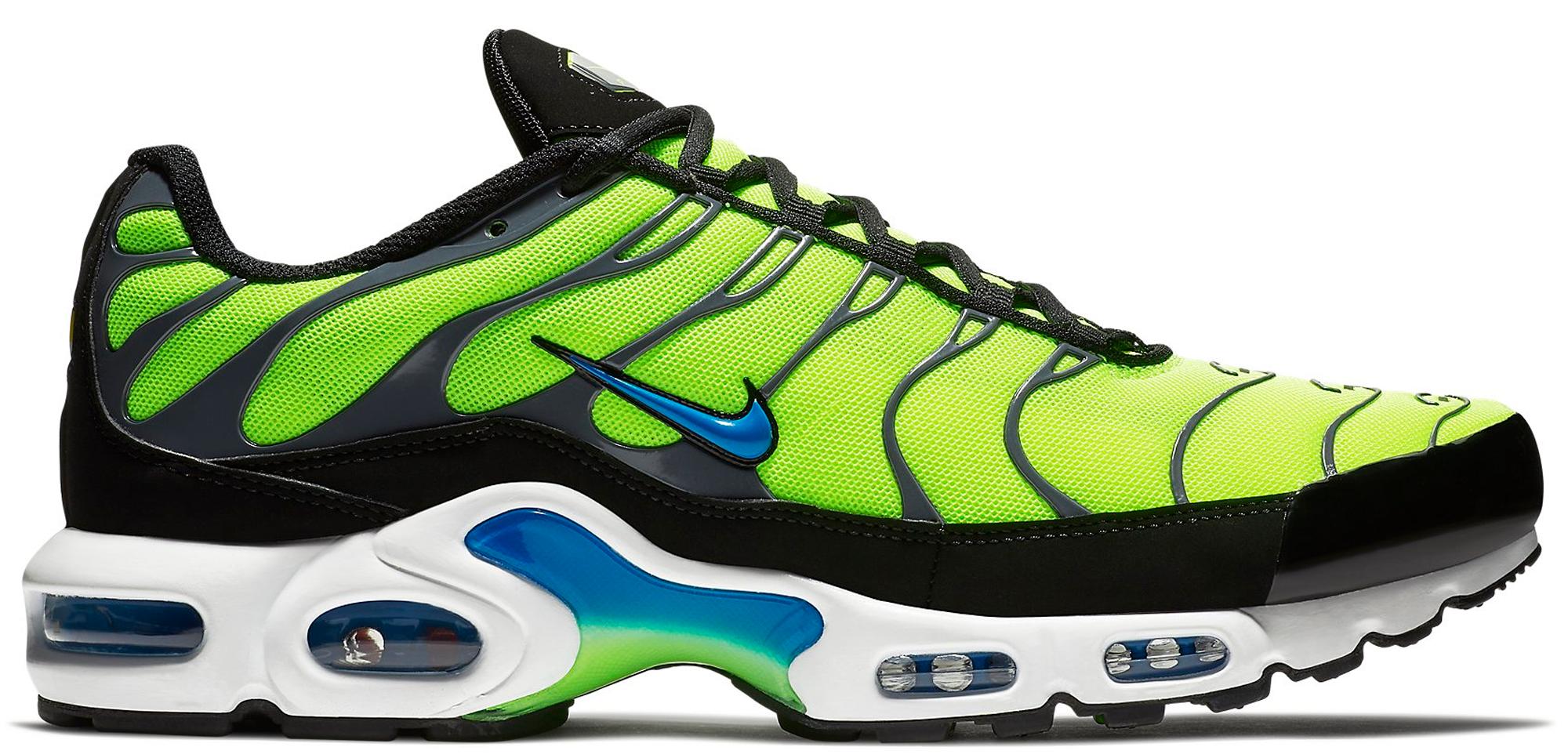 7fed21365b canada nike mens air max plus 2009 sneaker green 312a8 b84f2; buy air max  plus scream green 7eee6 c4b50