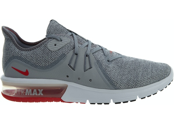 07b289f2e80 Air Max Sequent 3 Cool Grey University Red