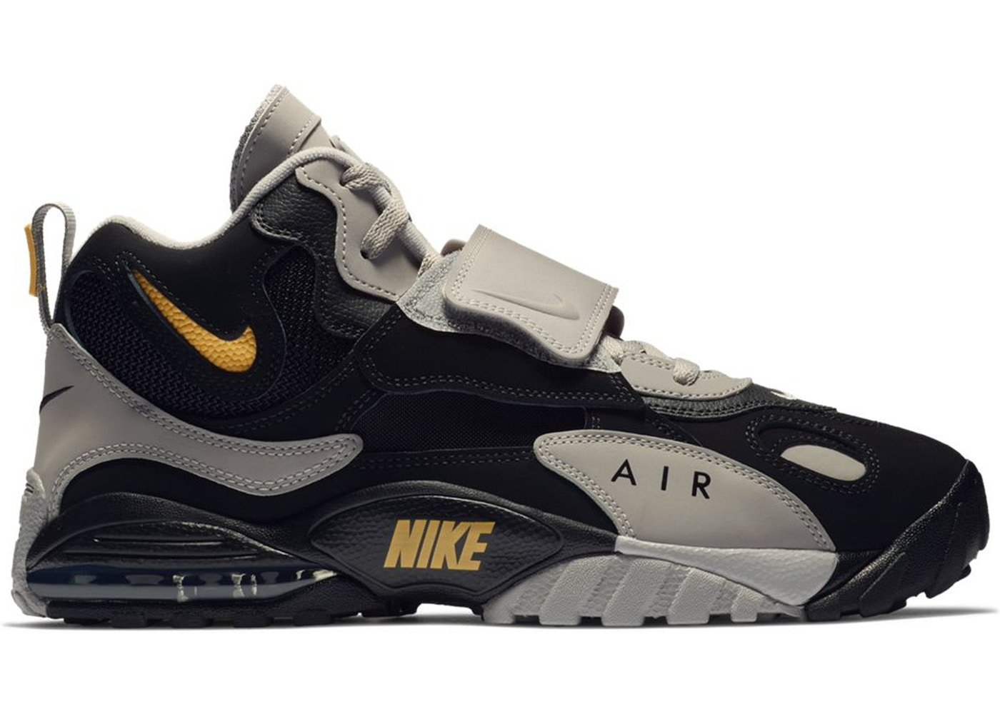 newest 35420 a1886 Air Max Speed Turf Black Grey Yellow