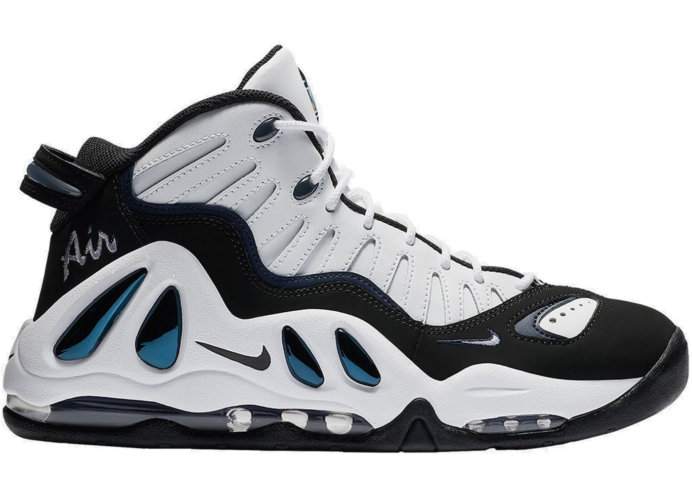 Air Max Uptempo 97 White Black College Navy (2018) - 399207-101 99cd81d1bc61