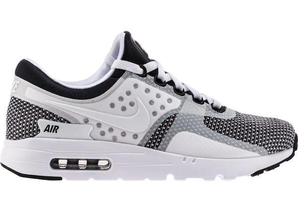 air max zero white and black
