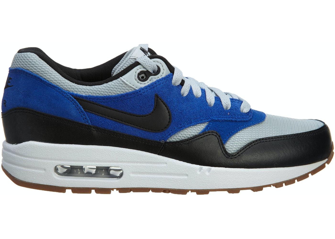 cigarro barrer suizo  Nike Air Max1 Essential Grey Mist/Black-Lyon Blue - 537383-022