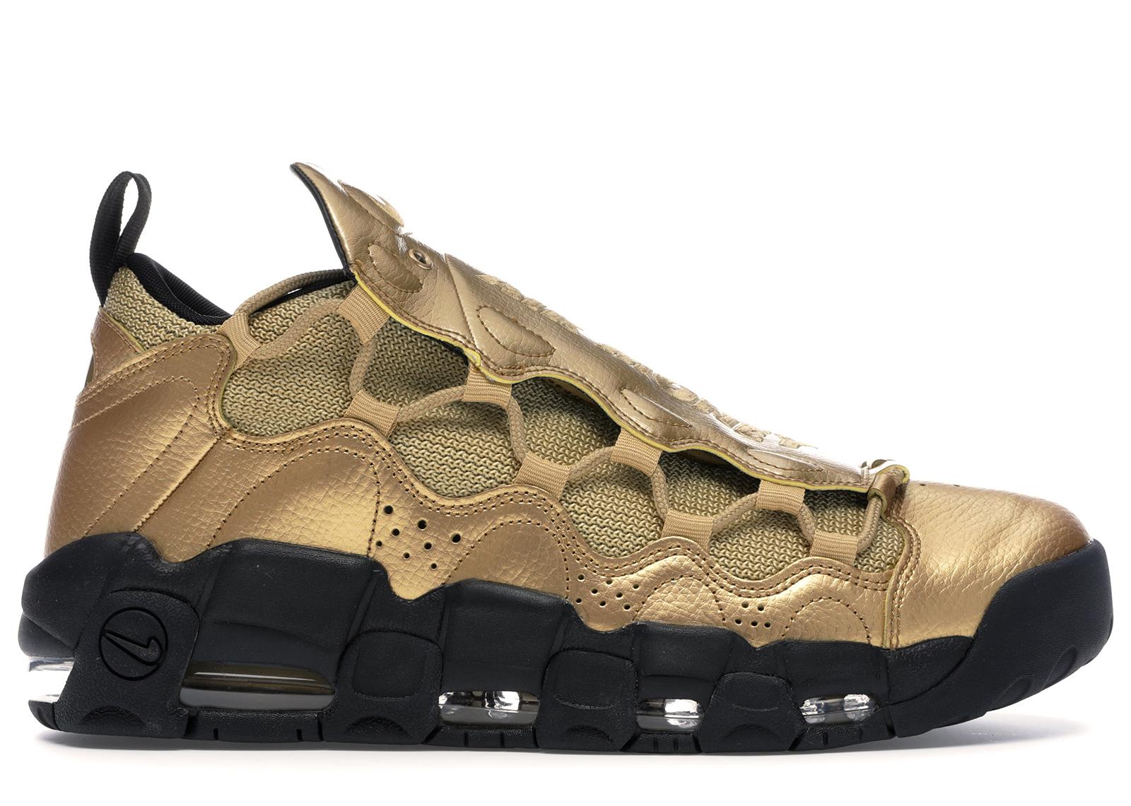 Nike Air More Money Metallic Gold Black