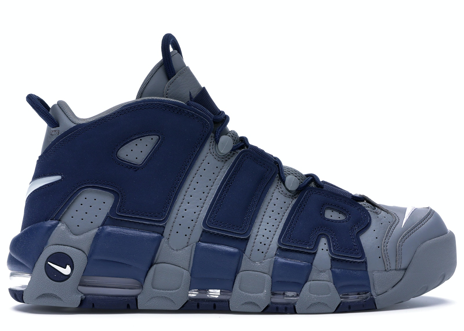 Air More Uptempo Cool Grey Midnight Navy