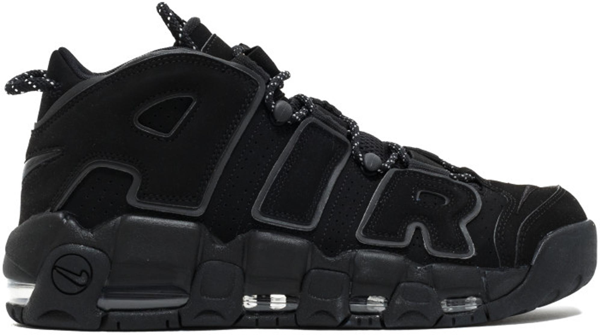 Nike Air More Uptempo Black Reflective