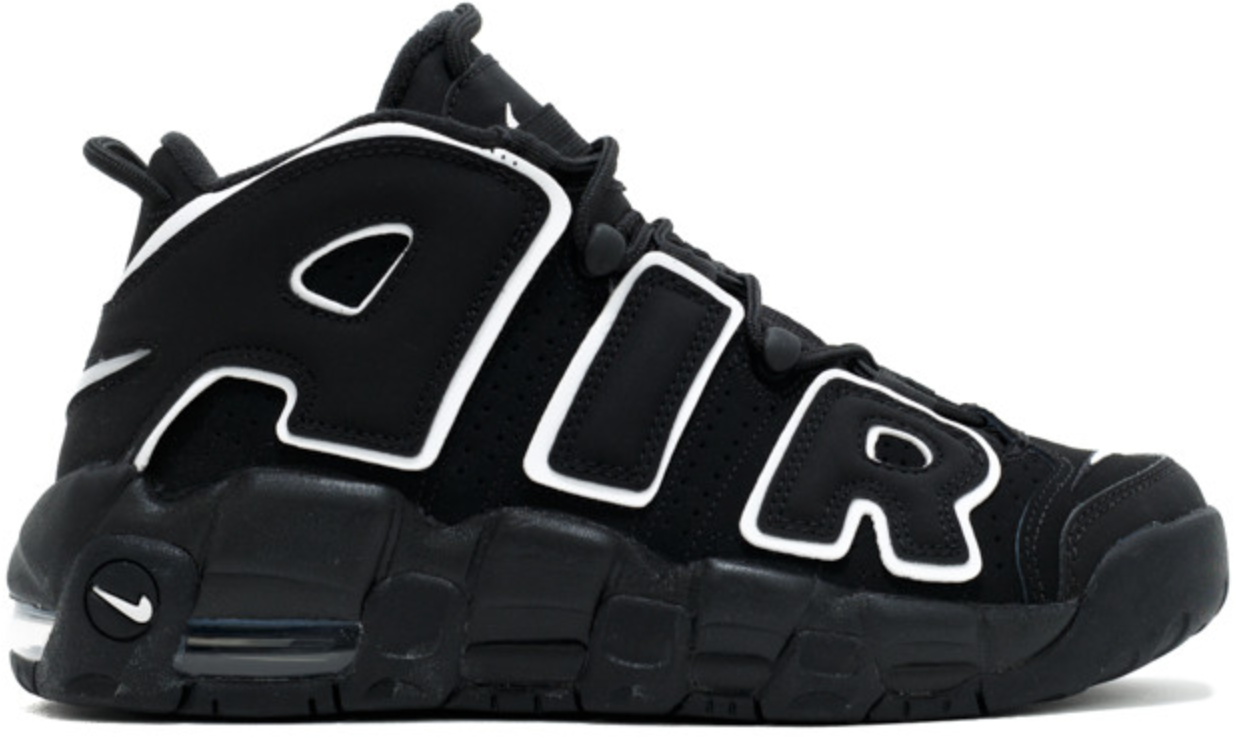 Air More Uptempo Black White 2016 GS