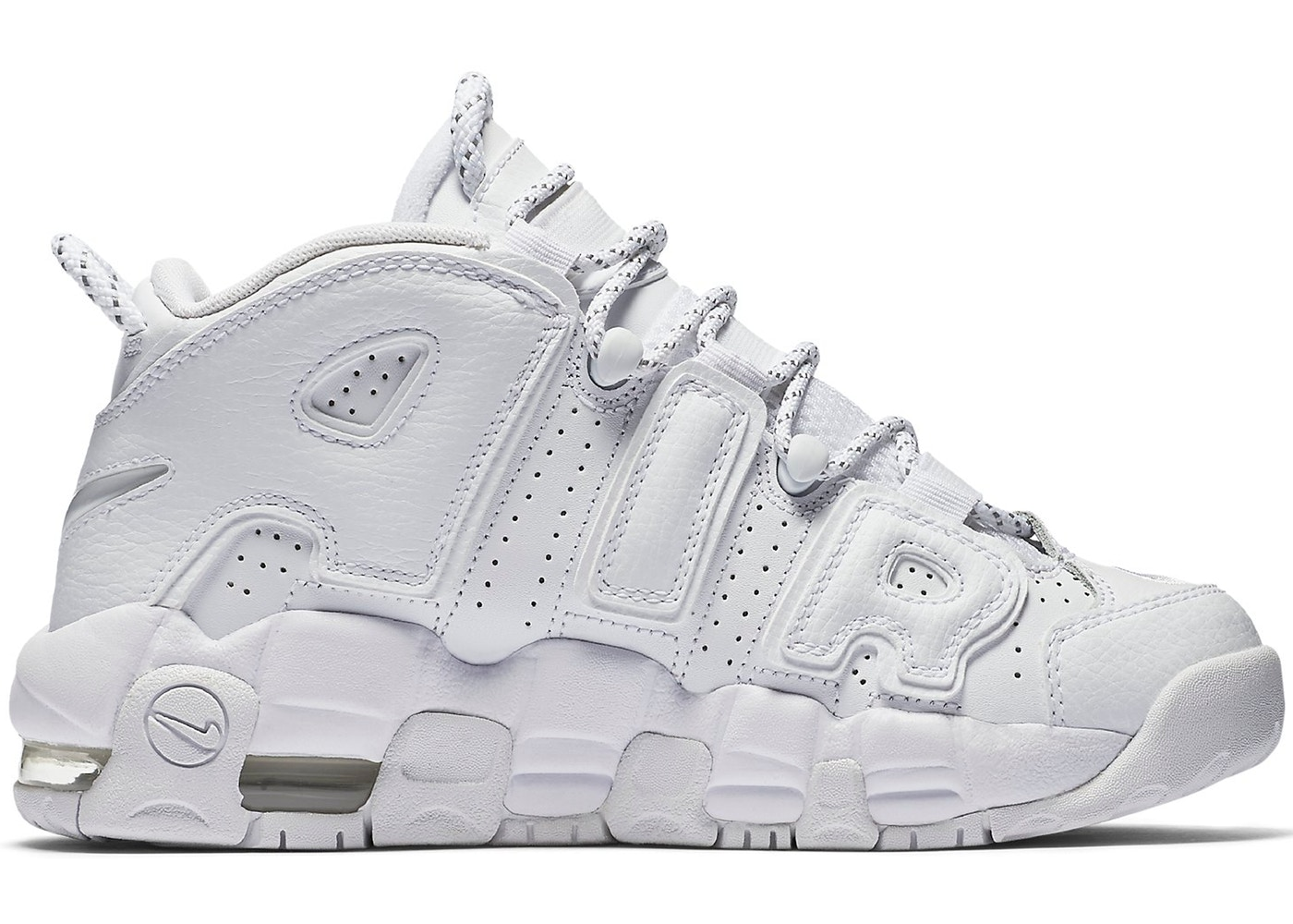 check out 34393 74b7b Sell. or Ask. Size: 5.5Y. View All Bids. Air More Uptempo Triple White ...