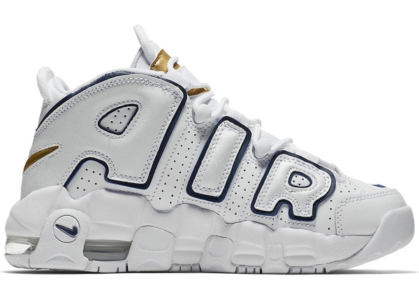 4799d1e4cbd Air More Uptempo White Midnight Navy (GS) - 415082-109