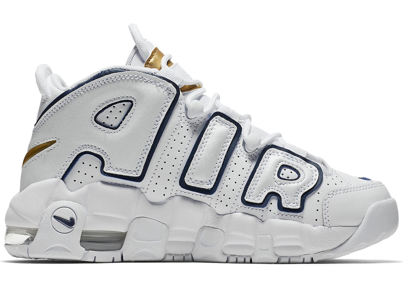Air More Uptempo White Midnight Navy (GS)