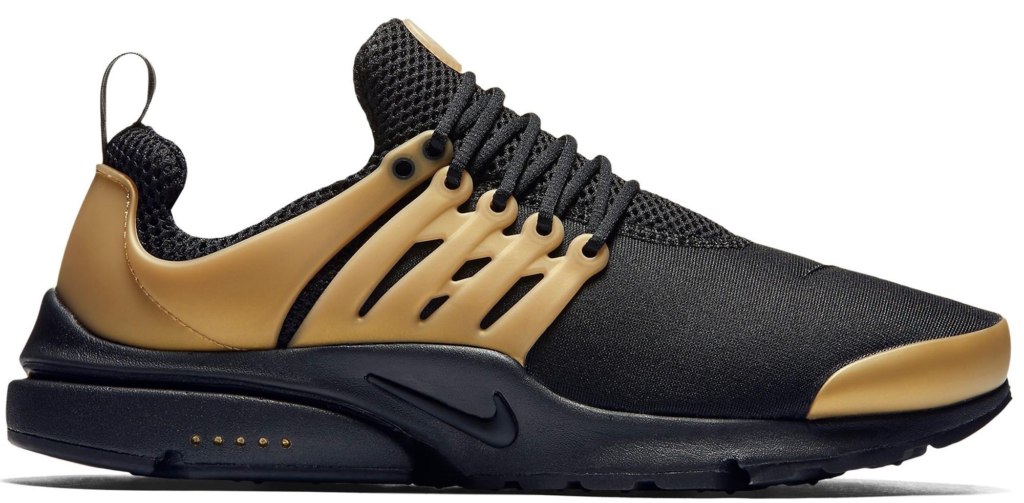 Nike Air Presto Black Metallic Gold