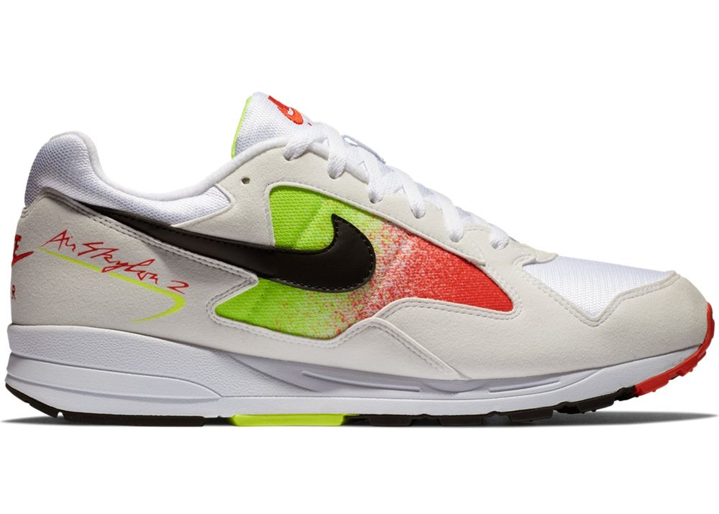 Cuatro Comparar Intrusión  Nike Air Skylon 2 White Black Volt Habanero Red - AO1551-105