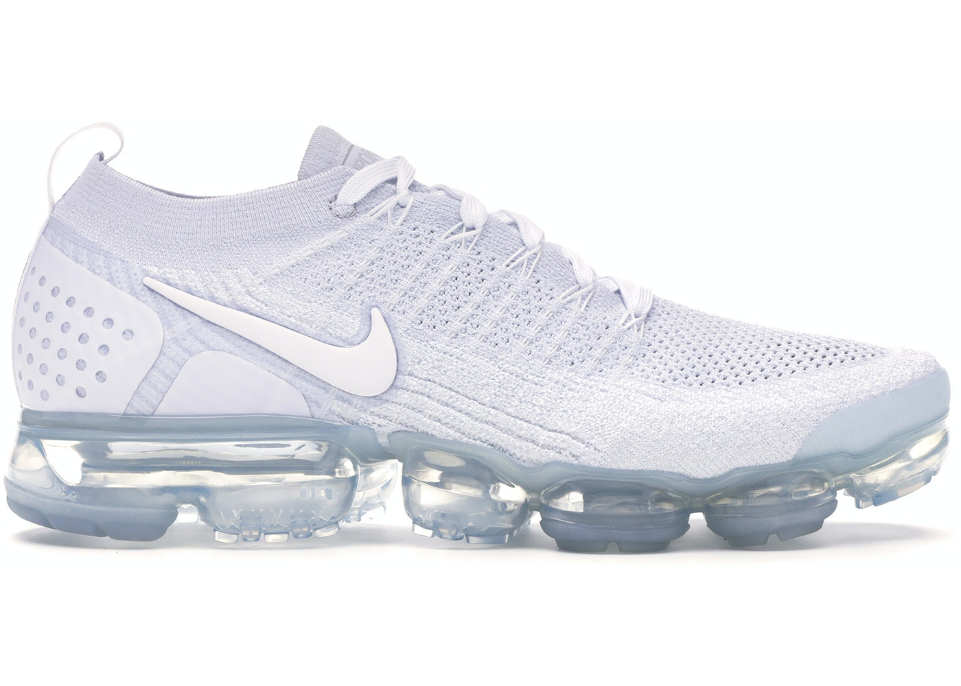 differently various colors fast delivery Nike Air VaporMax Flyknit 2 White Pure Platinum - 942842-100