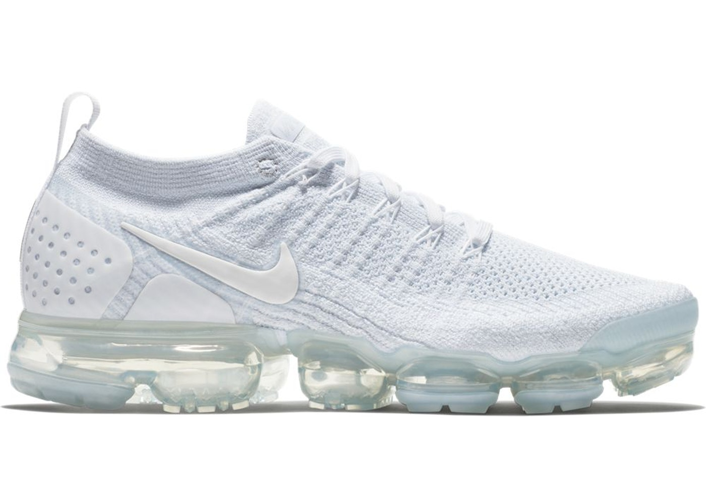sneakers for cheap 8aaed 23ab1 Air VaporMax Flyknit 2 White Pure Platinum - 942842-100