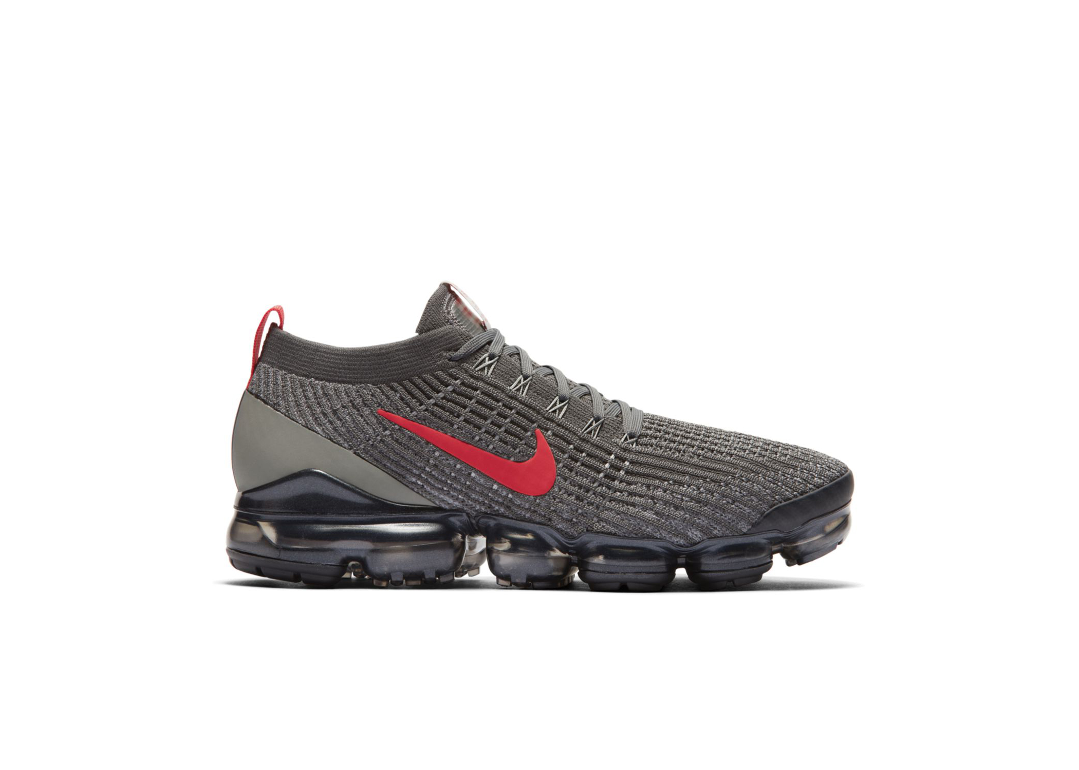 black and grey flyknit vapormax