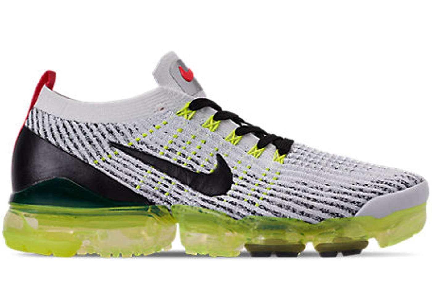 brand new 098f5 28eaf Air VaporMax Flyknit 3 White Black Volt Bright Crimson