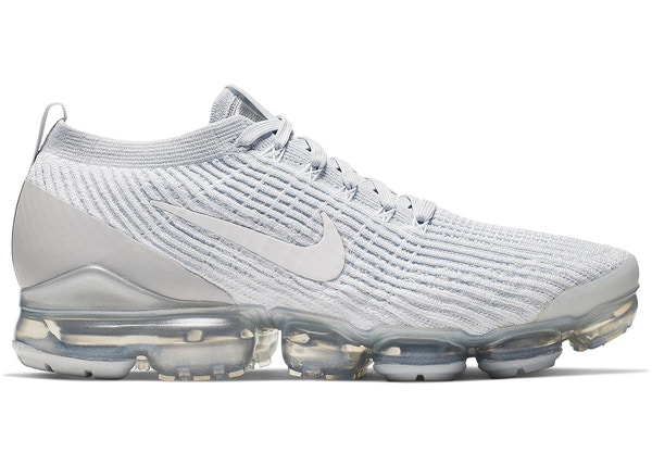 innovative design afe79 4a90a Air VaporMax Flyknit 3 White Pure Platinum