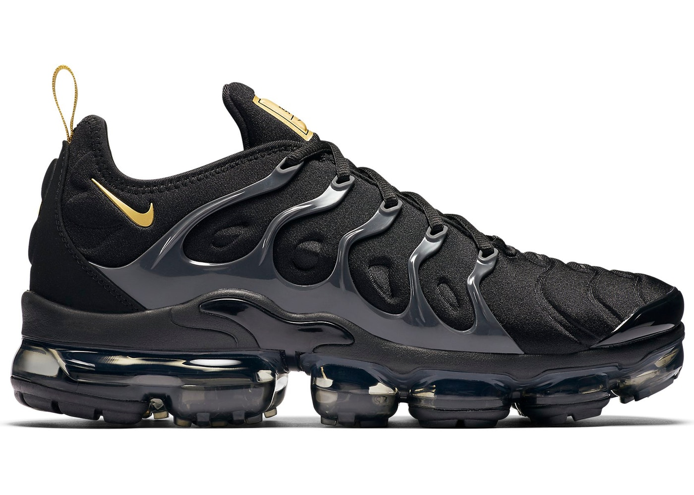 promo code 129cc 587cc Air VaporMax Plus Black Metallic Gold Anthracite