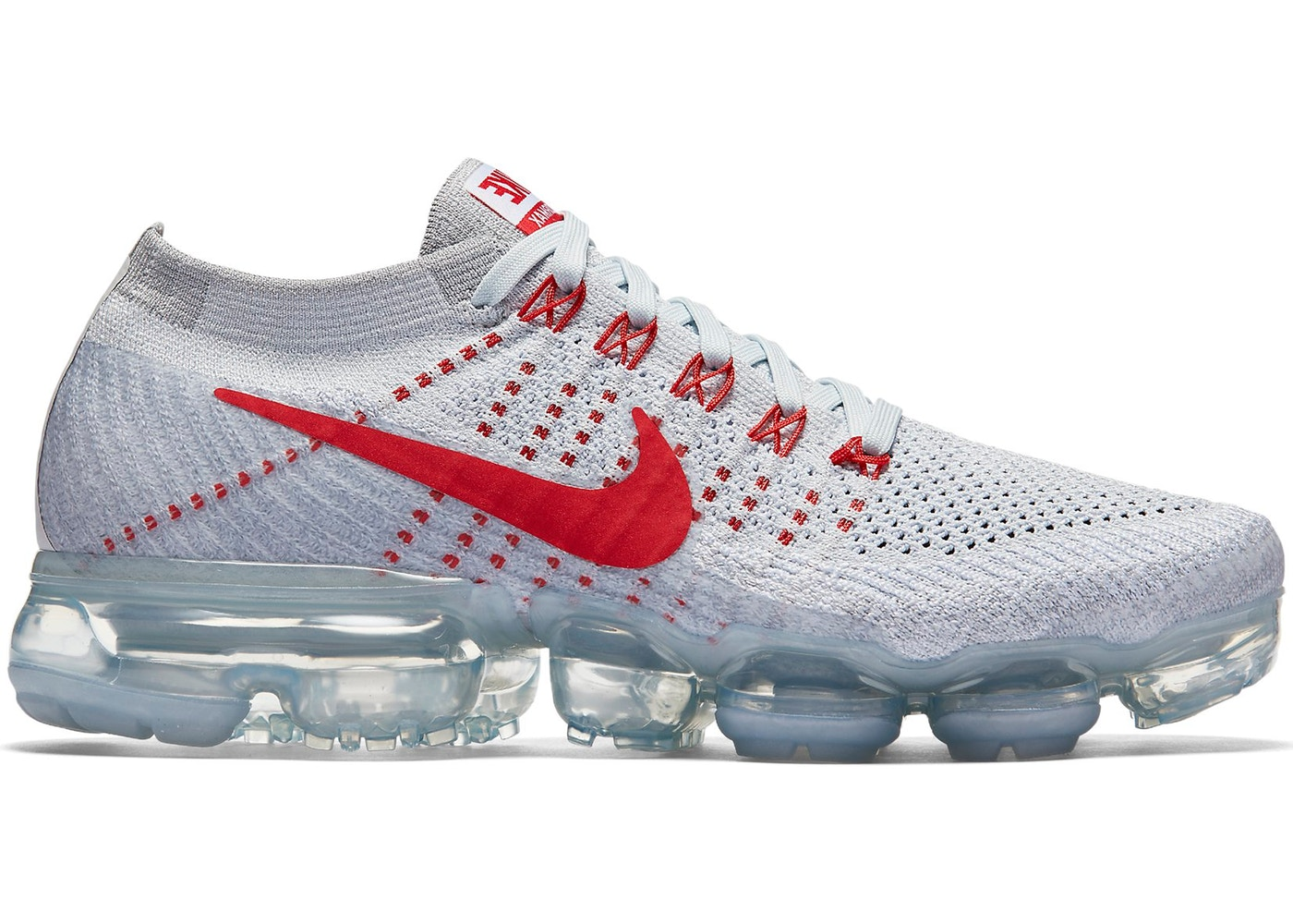 new product 03a5a 74a4b Air VaporMax Pure Platinum University Red (W)
