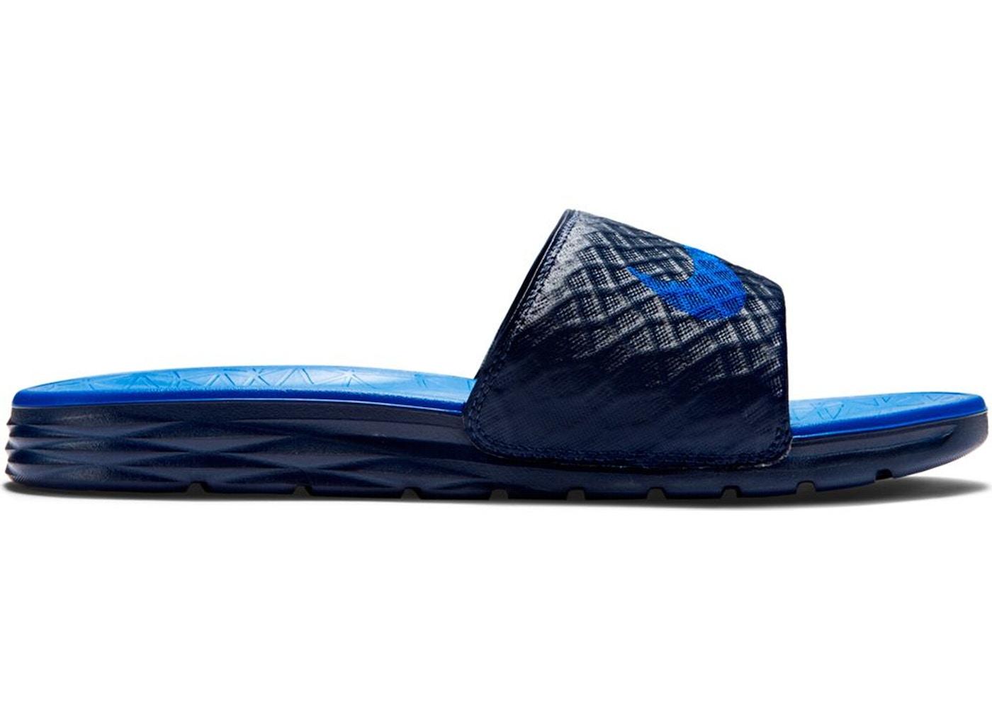 sports shoes 028b8 59a6e Nike Benassi Solarsoft 2 Midnight Navy Lyon Blue