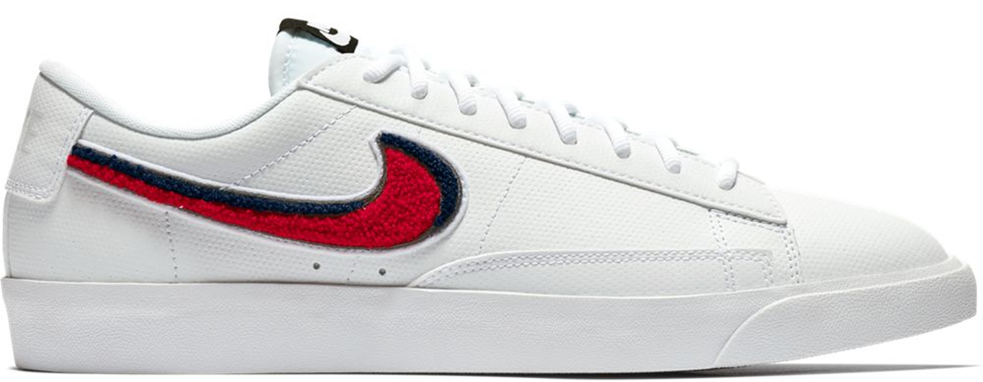 nike blazer low white and red
