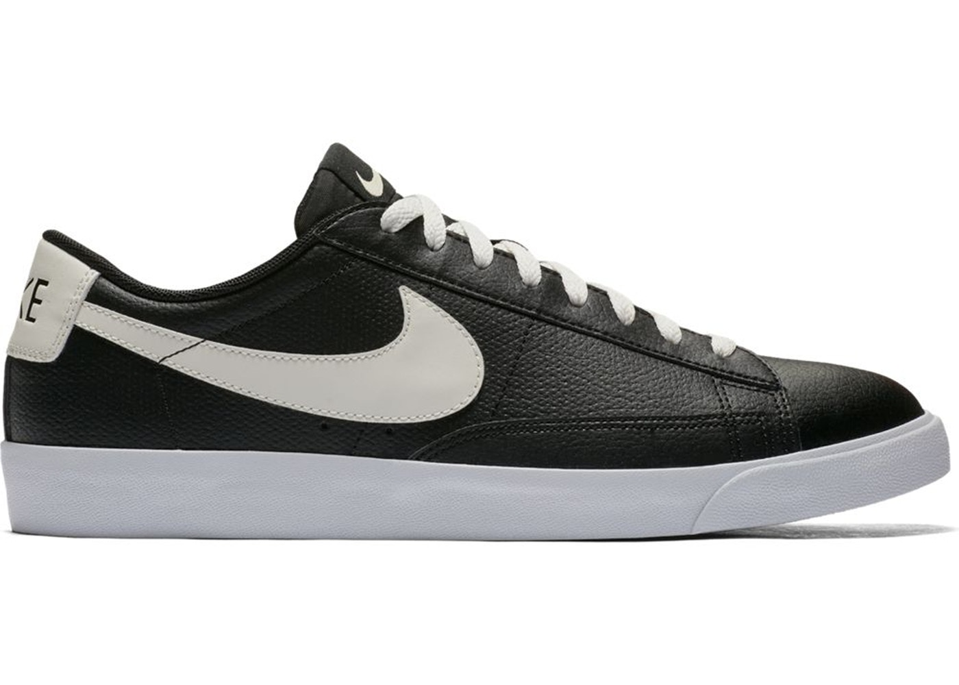Low Blazer Leather Sail Nike Black wN0Om8vn