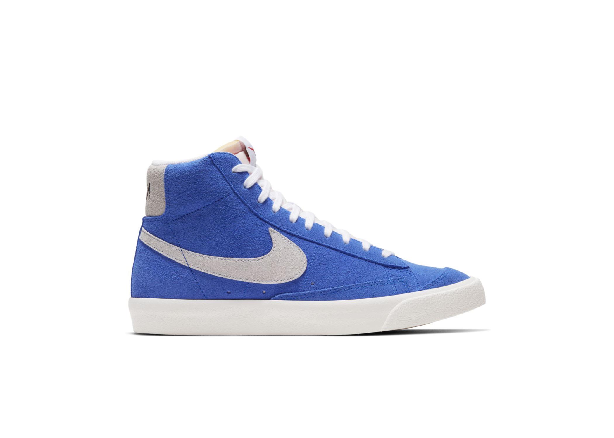 nike blazer blue and white