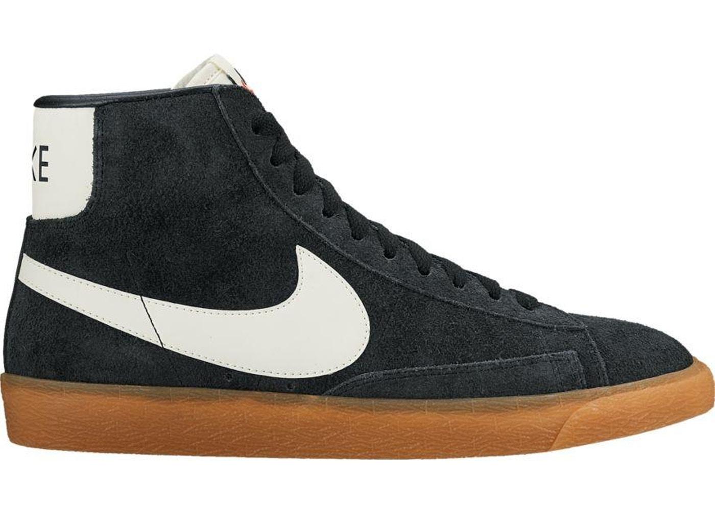 Privilegiado Adiós películas  Nike Blazer Mid Suede Vintage Black White Gum (W) - 518171-017