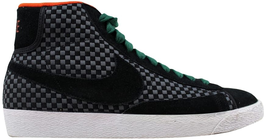 Nike Blazer Mid Woven Black/Black-Gorge Green-Team Orange