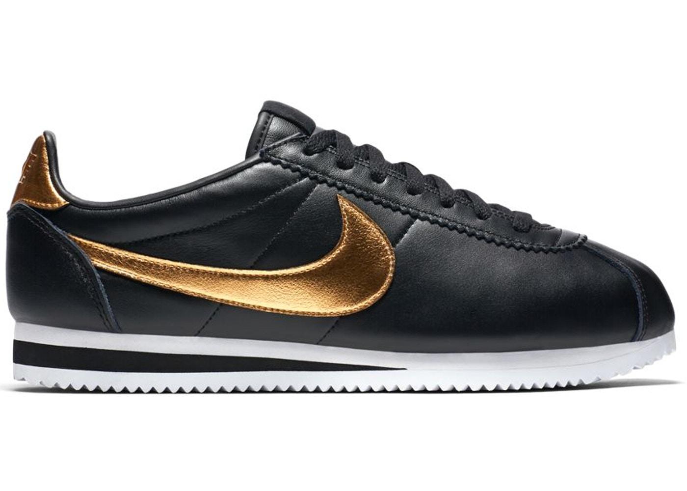 buy online 60b50 398aa Nike Classic Cortez Black Metallic Gold