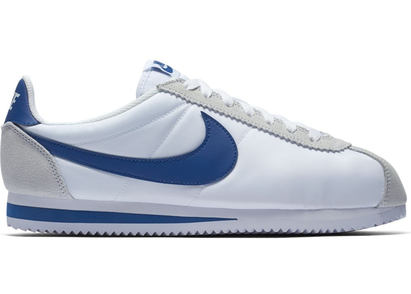Nike Classic Cortez Nylon White Gym Blue