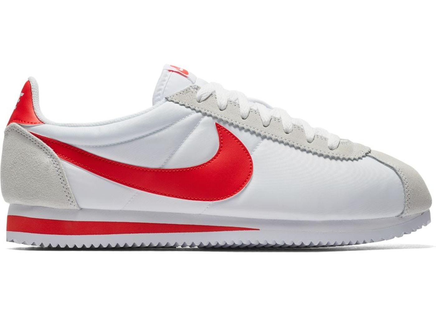 Nike Classic Cortez Nylon White Habanero Red