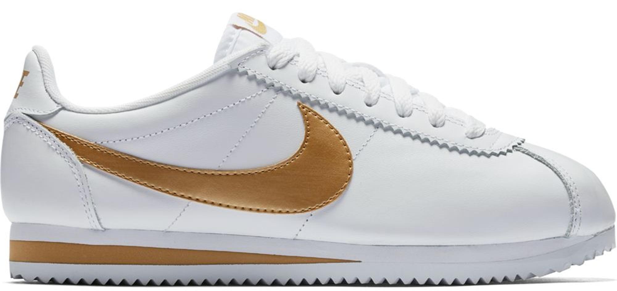 Nike Classic Cortez White Metallic Gold