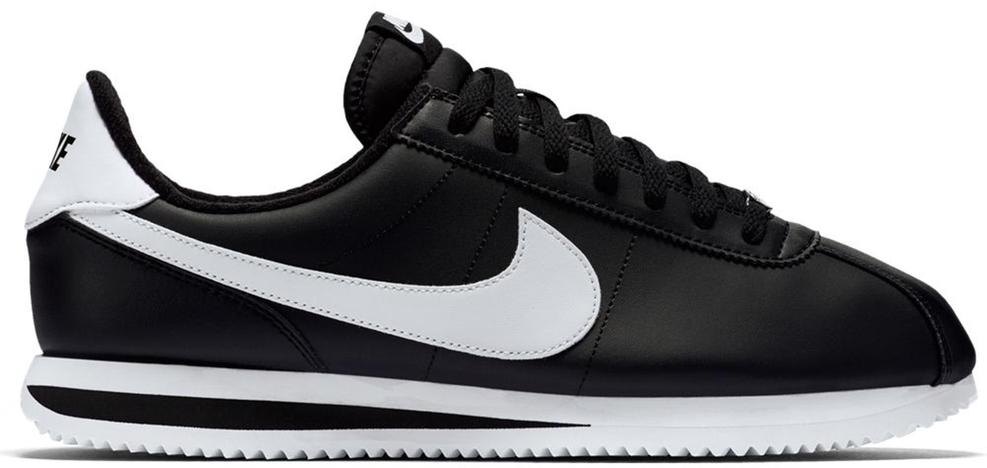 Nike Cortez Basic Black White - 819719-012