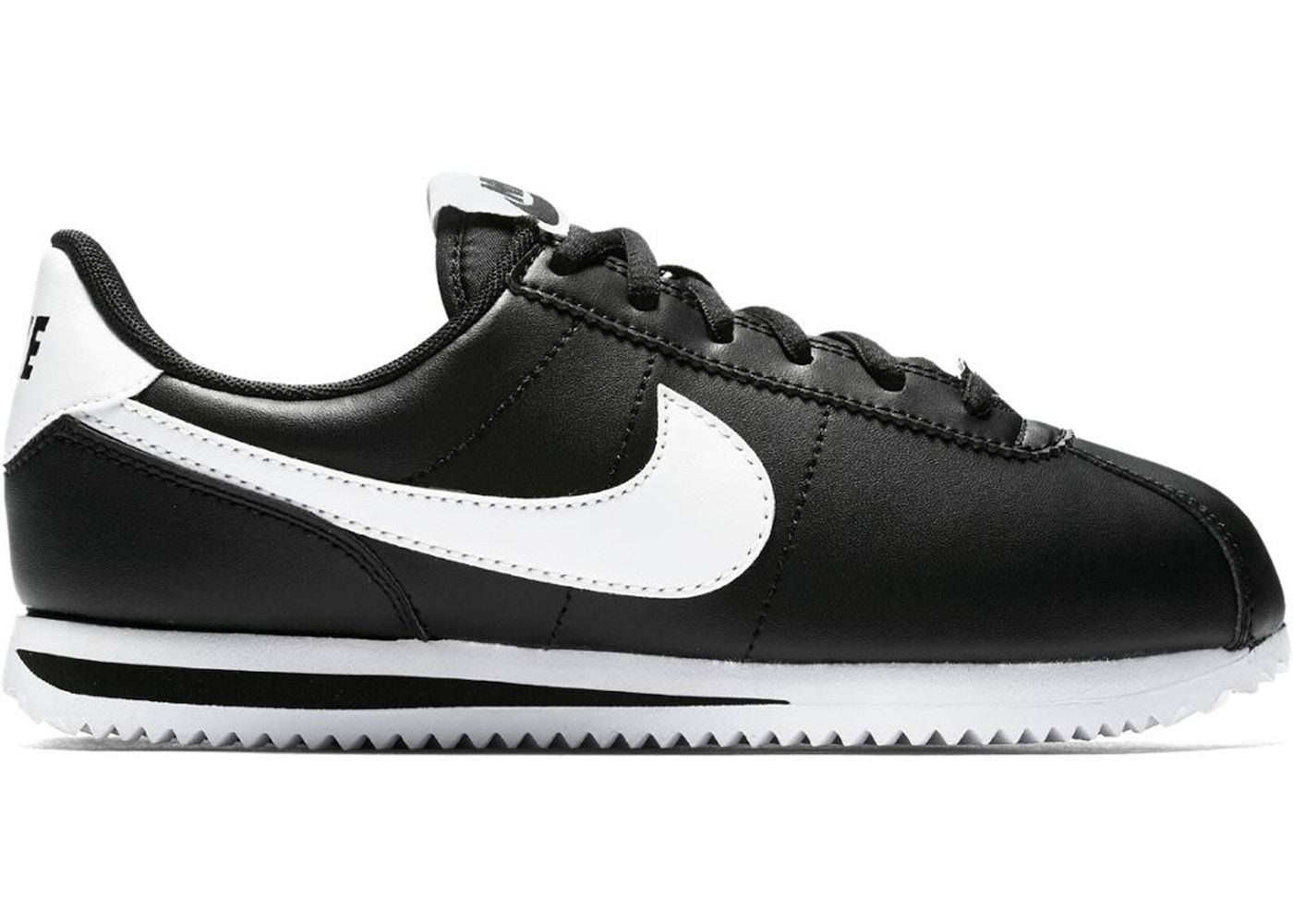 meet 0c85f a167b Nike Cortez Basic Leather Black White (GS)