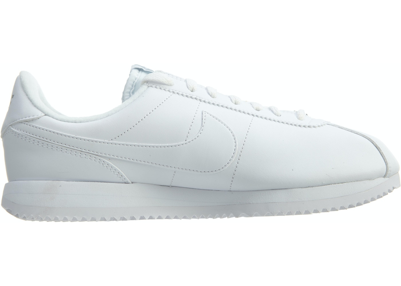 cheap for discount f1222 fa7c0 Nike Cortez Basic Leather White White-Wolf Grey-Mtllc Silver