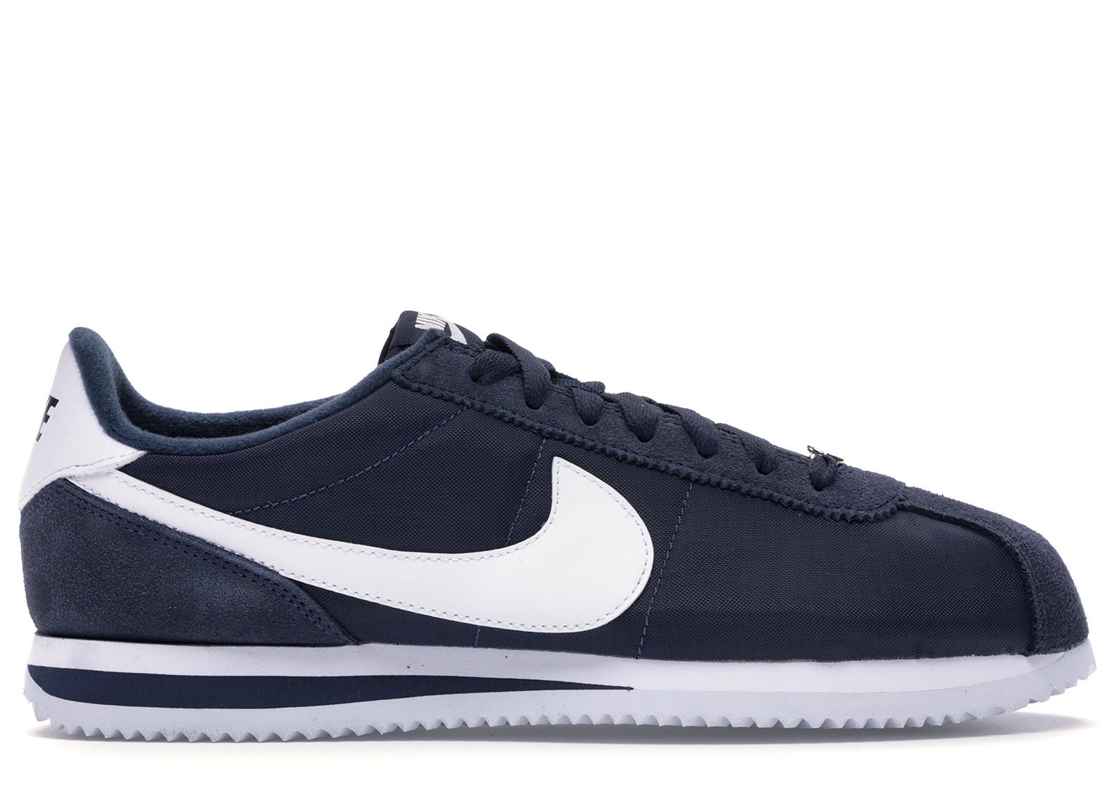 Nike Cortez Basic Nylon Obsidian White