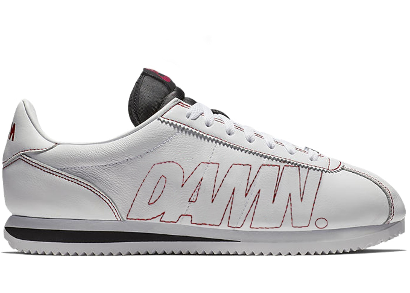 new style 29d7d 161fe Nike Cortez Kenny 1 Kendrick Lamar Damn White Gym Red