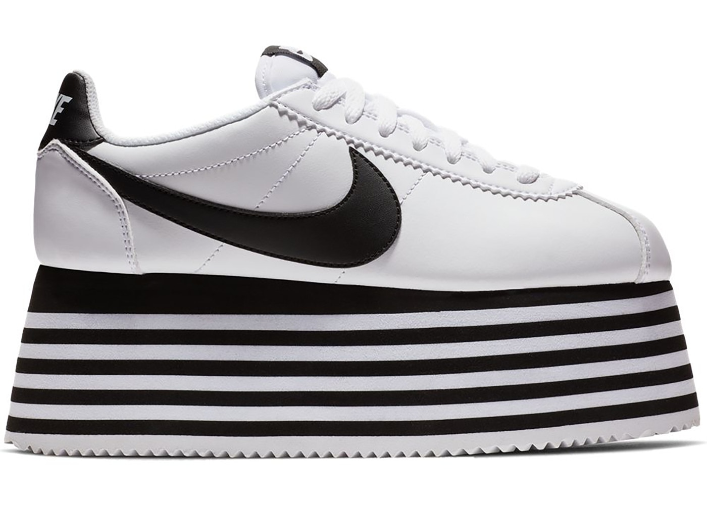 BlackW Cortez des Garcons White Nike Comme Platform l1JFc3TK